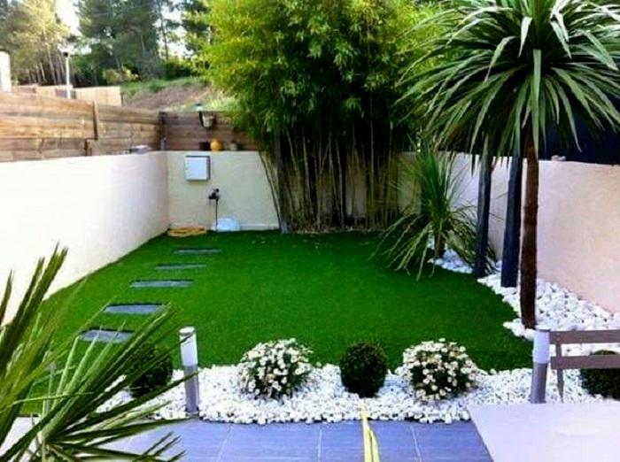 Piedra blanca marmol grano fino de 20 kg - Ideas decoracion jardines pequenos ...